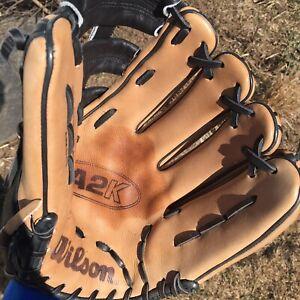 "Wilson A2K DW5 Pro Stock Select 12"" RHT Baseball Glove Righty Thrower MLB"
