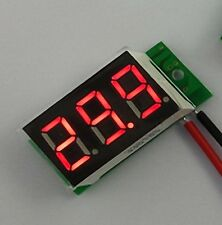 Ultra Mini size Red LED Volt Meter 4.5V~30V Doesn't Require Power