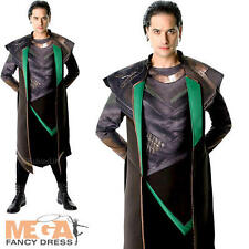 Loki Mens Fancy Dress Thor Villain Superhero Marvel Comic Film Adults Costume