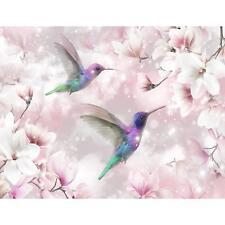 Vlies Fototapete Blumen Vögel Tapete Wandbilder XXL Wandtapete Dekoration