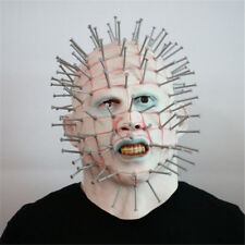 New Cosplay Halloween Latex Adult  Horror Movie Hellraiser Pinhead Party Masks