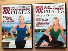 Mari Winsor SLIMMING PILATES~4 DVD SET~BODY BLAST~WEIGHT LOSS~Fit & Famous~ABs