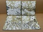 4 pc Lot 11.5' x 11.5' Antique Ceiling Tin Metal Reclaimed Salvage Art Craft