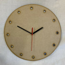 CL6 30cm Round Wooden Dot Clock Kit. Ideal For Craft, Deco Patch