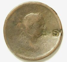 Great Britain Penny George III Counter Stamp B.S Circa 1807 #6811