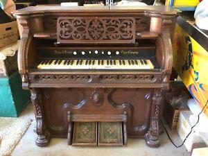 antique reed pump organ