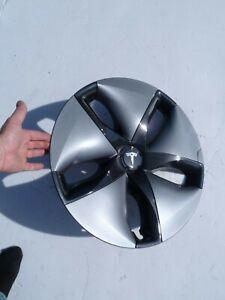 Tesla Model 3 Genuine Single (1) Aero Wheel Hub Cap Rim Cover OEM M3 Gray