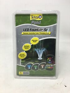 Tetra Pond LED Remote Controlled Color Changing Fountain Set New In Packaging!