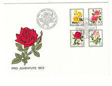 Schweiz  FDC Ersttagsbrief 1972 Rosen Mi.Nr.984-87