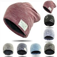 Mens Womens Warm Winter Baggy Beanie Oversized Wool Knitted Hat Slouch Cap Hot