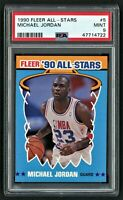 1990 FLEER ALL-STARS MICHAEL JORDAN #5 CHICAGO BULLS HOF  LAST DANCE PSA 9 MINT