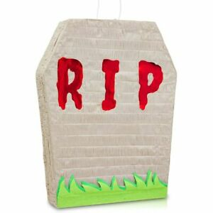 Small Tombstone Graveyard Pinata for Halloween Party (16.5 x 13 x 3 Inches)