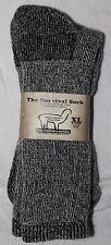 "Alpaca ""Survival Socks"" (Made in USA) Size XL Grey (3 Pair)"