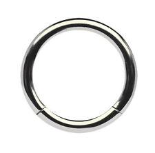 Titan Intim Brust Piercing Schmuck Smooth Segment Ring 2,0mm mit Klemm-Segment