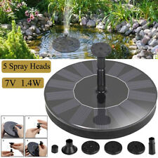 Bird Bath Fountain Solar Powered Water Pump Floating Outdoor Pond Garden Battery