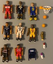 *RARE* NBA C3 Construction Lot Of 8 Figures With Hoop And Other Accessories