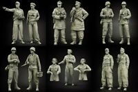 1/35 Resin Figure Model Kit German Soldiers WWII WW2 Unpainted Unassambled