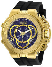 New Mens Invicta 27506 Excursion Swiss Quartz 3 Hand Blue,Gold Dial 58mm Watch