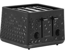 4 Slice Toaster función de descongelación rápida RECALENTAMIENTO PAN con Cable Moderno Negro Nuevo