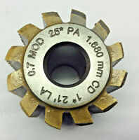 Gear cutting hob 0.7 module  25 pa 10 mm bore by Acedes   fits Mikron hobbers.