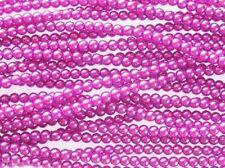 En Rojo Borgoña de Cristal Checo Redondo Perlas-Cadena de cuentas 110-4mm