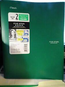 Lot Of 4  Mead Heavy Duty Plastic Prong Folders School Teaching Pocket  Pre-own
