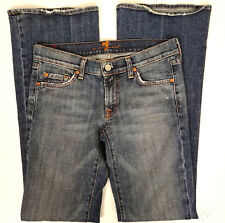 7 for all Mankind Womens Size 27 x 33 Flare Jeans Mid Rise