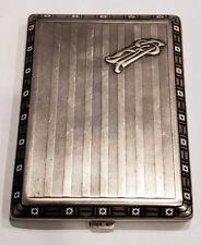 Vintage 900 Sterling Enameled Cigarette Case Stamped 1593 160 grams