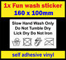 Hand Wash car Fun bumper sticker bomb euro dub Drift Honda jap jdm Shocker decal
