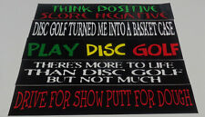 """-New 5 Disc Golf Stickers.  8.5"""" x 1.5"""" Very High Quality."""