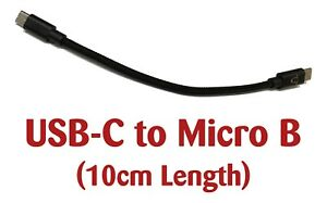 Black Sheep - Merino USB C to Micro B Short 10cm Length OTG Audio DAC Cable