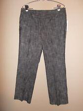 NWT Larry Levine Petites Size 14P Gray Chambray Dress Pants
