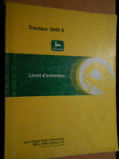 John Deere Tractor 2040s: Booklet' Maintenance K0