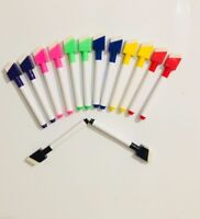 14 Shaped Magnetic Colour Dry Wipe White Board Markers Pens Eraser Easy Wipe