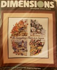 SEALED Dimensions A SEASON FOR EVERYTHING Stamped Cross Stitch Kit