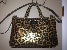 KATE SPADE NY FANFARE BRETTE PXRU3017 SATCHEL LADIES LEOPARD PURSE HANDBAG