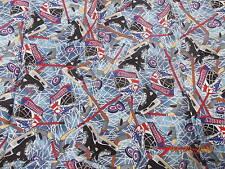 "Hockey Fabric Fat Quarter 19"" x 19"""