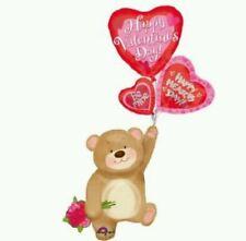 Airwalker Valentine's Day Bear With Hearts Jumbo 65h 28w Anagram Balloon (25522)