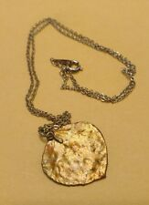 18K GF Necklace Leaf with Chain Womens Ladies Gold Filled Costume Vintage