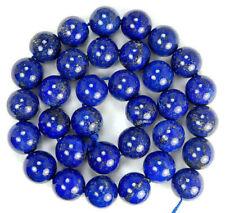 5/10/20/30/40PCS Natural Lapis lazuli Gemstone Round Loose Spacer Beads Jewelry