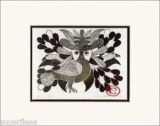 - Flower Bird by Inuit Artist Kenojuak Ashevak Matted Art Print