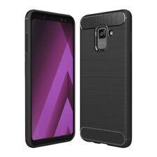 Carbon Fibre (TPU) Case [Silicone] Cover for Samsung Galaxy A8+ Plus (2018)