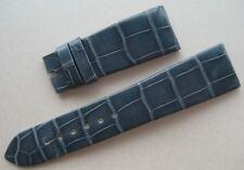GENUINE GIRARD PERREGAUX WATCH ALLIGATOR STRAP BAND GREY BLUE NEW 20 mm x 16 mm