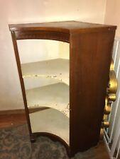 Antique Wood Corner Cabinet Shelving