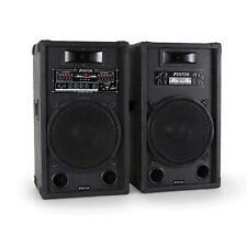 "PAR ALTAVOCES ACTIVO-PASIVO 1200W VATIOS ENTRADA USB SD MP3 2 VIAS GRAVE 12"""