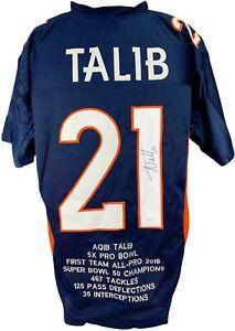 Aqib Talib autographed signed jersey NFL Denver Broncos JSA COA No Fly Zone
