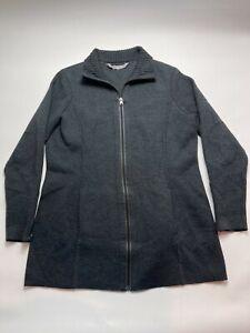 Athleta Womens XL Jacket Full Zip Long Sleeve Gray