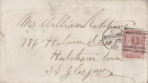 1880 QV CAMPBELTOWN TO HUTCHESONTOWN COVER WITH A 1d VENETIAN STAMP 99p START!