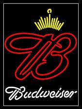 Budweiser Neon imprimé rétro en métal aluminium SIGNE VINTAGE/MAN CAVE/Bar/Pub