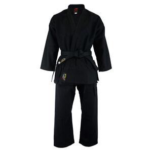 Playwell Karate 14oz Heavyweight Uniform BLACK Adults Students Gi Martial Arts